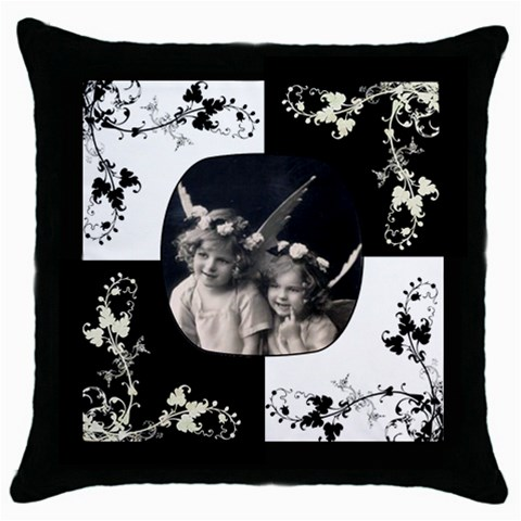 Angelica Pillow Cushion Case By Catvinnat   Throw Pillow Case (black)   709yp1a658yc   Www Artscow Com Front