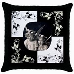 Angelica Pillow Cushion Case - Throw Pillow Case (Black)
