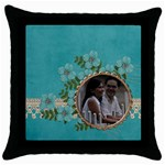 Throw Pillow Case (Black)- Love Forever