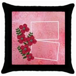 Throw Pillow Case (Black)- I Love You