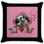 Throw Pillow Case (Black)- Love Love