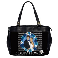 Flower Lady By Joely   Oversize Office Handbag (2 Sides)   B34n607xgtck   Www Artscow Com Front