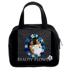 Flower Lady By Joely   Classic Handbag (two Sides)   Izx8l1b8y051   Www Artscow Com Front