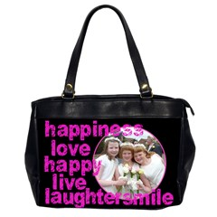 Happiness 2 Sided Oversized Office Bag By Catvinnat   Oversize Office Handbag (2 Sides)   Rwjkyakgh1xd   Www Artscow Com Front