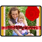 rose - Fleece Blanket (Large)