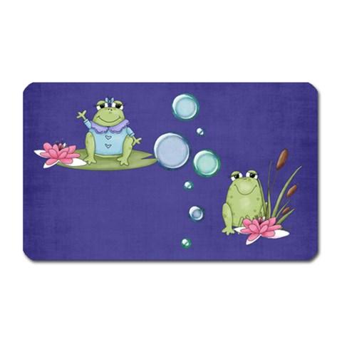 Frog Magnet By Elena Petrova   Magnet (rectangular)   J27k0evjicsm   Www Artscow Com Front