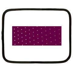 Purple White Dots Netbook Case (xxl) by PurpleVIP