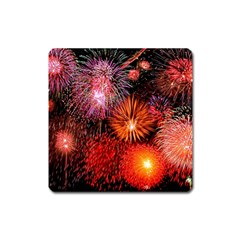 Fireworks Large Sticker Magnet (Square) by level1premium