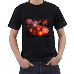 Fireworks Twin Sided Black Mens'' T Shirt by level1premium