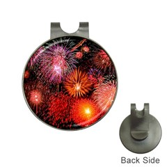 Fireworks Hat Clip With Golf Ball Marker by level1premium
