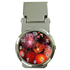 Fireworks Chrome Money Clip With Watch by level1premium