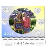 pretty pastels calendar 2016 - Wall Calendar 11  x 8.5  (12-Months)
