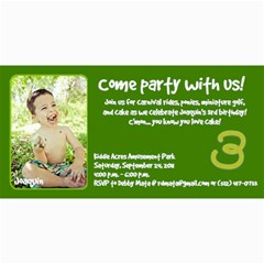 Joaquin Is Turning Three! By Debby Mata   4  X 8  Photo Cards   Ac8t9kz356ge   Www Artscow Com 8 x4 Photo Card - 9