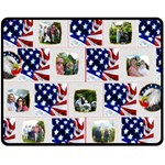 4th of July Stars & Stripes Medium Fleece Blanket - Fleece Blanket (Medium)