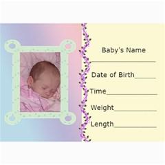 Birth Announcement  By Kim Blair   5  X 7  Photo Cards   Ld3zybmrnmj6   Www Artscow Com 7 x5 Photo Card - 2