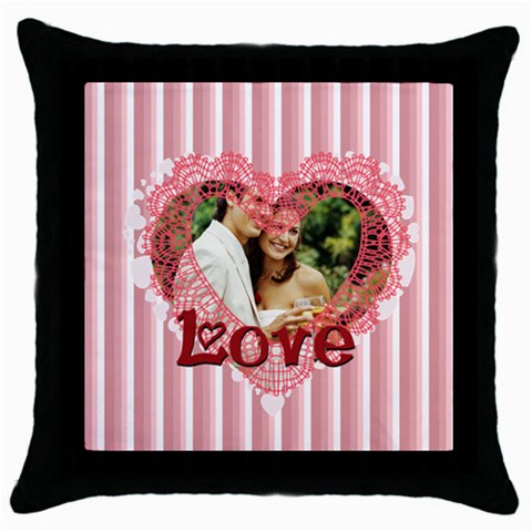 Love By Joely   Throw Pillow Case (black)   5mhbnhhn8f18   Www Artscow Com Front