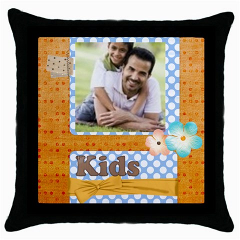 Kids By Joely   Throw Pillow Case (black)   M2fcktvhptyt   Www Artscow Com Front