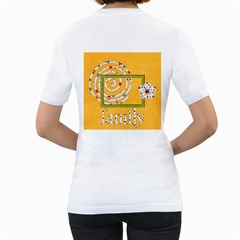 Celebrate May 2 Sided Womens Shirt 1 By Lisa Minor   Women s T Shirt (white) (two Sided)   Qde5fvp983xt   Www Artscow Com Back
