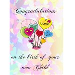 Congradulations on the birth of your child 1 - Greeting Card 5  x 7