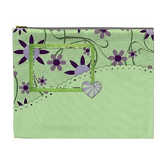 Lavender Essentials Xl Cosmetic Bag 1 By Lisa Minor   Cosmetic Bag (xl)   Gnhlxfe2l6md   Www Artscow Com Front