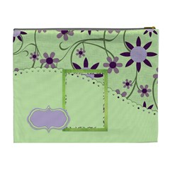 Lavender Essentials Xl Cosmetic Bag 1 By Lisa Minor   Cosmetic Bag (xl)   Gnhlxfe2l6md   Www Artscow Com Back