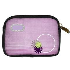 Lavender Essentials Camera Bag 1 By Lisa Minor   Digital Camera Leather Case   3uywllgewhr3   Www Artscow Com Back