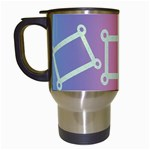 rainbow mug - Travel Mug (White)