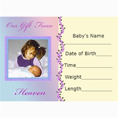 Birth Announcement By Kim Blair   5  X 7  Photo Cards   P5l0hw7rxcmp   Www Artscow Com 7 x5 Photo Card - 3