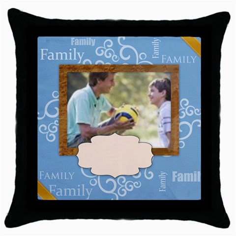 Family By Joely   Throw Pillow Case (black)   A5xwibok0qv0   Www Artscow Com Front