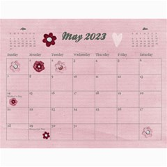 18 Month 2015 Calendar/family Any Theme By Mikki   Wall Calendar 11  X 8 5  (18 Months)   Dyahjav3t63z   Www Artscow Com May 2016