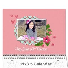 Calendar  My Lil  Princess By Jennyl   Wall Calendar 11  X 8 5  (12 Months)   Ysu90lqkglw0   Www Artscow Com Cover