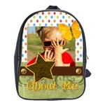 about me  - School Bag (Large)