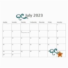 Calendar  Cool Dude By Jennyl   Wall Calendar 11  X 8 5  (12 Months)   Bnv9s9djwept   Www Artscow Com Jul 2017
