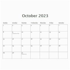 Faded Glory Monochrome 2015 Calendar By Catvinnat   Wall Calendar 11  X 8 5  (12 Months)   Q1d1acy2w5ub   Www Artscow Com Oct 2015