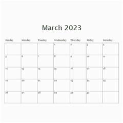 Faded Glory Monochrome 2015 Calendar By Catvinnat   Wall Calendar 11  X 8 5  (12 Months)   Q1d1acy2w5ub   Www Artscow Com Mar 2015