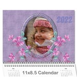 Pretty in Mauve 2018 (any year) Calendar - Wall Calendar 11  x 8.5  (12-Months)