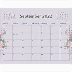 Pretty In Mauve 2017 (any Year) Calendar By Deborah   Wall Calendar 11  X 8 5  (12 Months)   G3eh9t30gsrw   Www Artscow Com Sep 2017