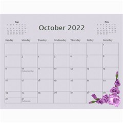 Pretty In Mauve 2017 (any Year) Calendar By Deborah   Wall Calendar 11  X 8 5  (12 Months)   G3eh9t30gsrw   Www Artscow Com Oct 2017