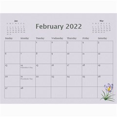 Pretty In Mauve 2017 (any Year) Calendar By Deborah   Wall Calendar 11  X 8 5  (12 Months)   G3eh9t30gsrw   Www Artscow Com Feb 2017
