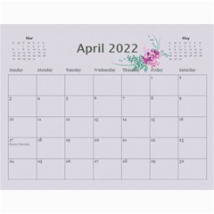 Pretty In Mauve 2017 (any Year) Calendar By Deborah   Wall Calendar 11  X 8 5  (12 Months)   G3eh9t30gsrw   Www Artscow Com Apr 2017