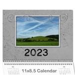 Simple Silver 2015 Calendar - Wall Calendar 11  x 8.5  (12-Months)