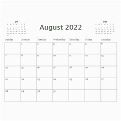 Simple Silver 2015 Calendar By Catvinnat   Wall Calendar 11  X 8 5  (12 Months)   9tyri4p0kzd8   Www Artscow Com Aug 2015