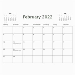 Simple Silver 2015 Calendar By Catvinnat   Wall Calendar 11  X 8 5  (12 Months)   9tyri4p0kzd8   Www Artscow Com Feb 2015