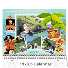 Pirate Pete 2015 Calendar By Catvinnat   Wall Calendar 11  X 8 5  (12 Months)   2kiltmitvnn6   Www Artscow Com Cover