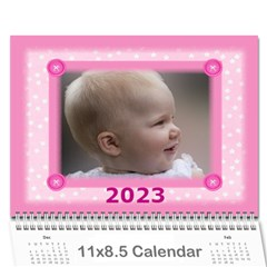 Pretty In Pink 2018 (any Year) Calendar By Deborah   Wall Calendar 11  X 8 5  (12 Months)   Kvp2ria4y7o8   Www Artscow Com Cover