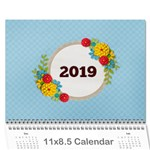 Calendar- Summer Colors - Wall Calendar 11  x 8.5  (12-Months)