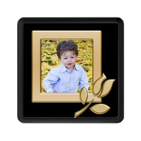 Black And Gold Memory Card Reader Square By Deborah   Memory Card Reader (square)   Wr4ffopm44c2   Www Artscow Com Front