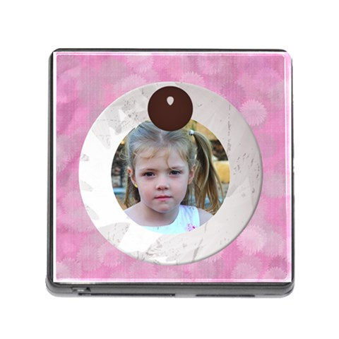 Memory Card Reader   Pink Daisies By Joan T   Memory Card Reader (square)   20dfx3kr478t   Www Artscow Com Front