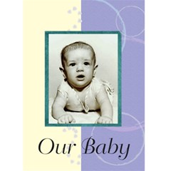 Birth Announcement 1 By Kim Blair   Greeting Card 5  X 7    C5ea1j7qiwiw   Www Artscow Com Front Cover