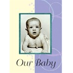 Birth announcement 1 - Greeting Card 5  x 7